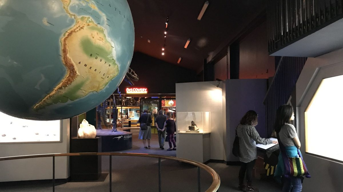 Geology exhibit at the Canterbury Museum