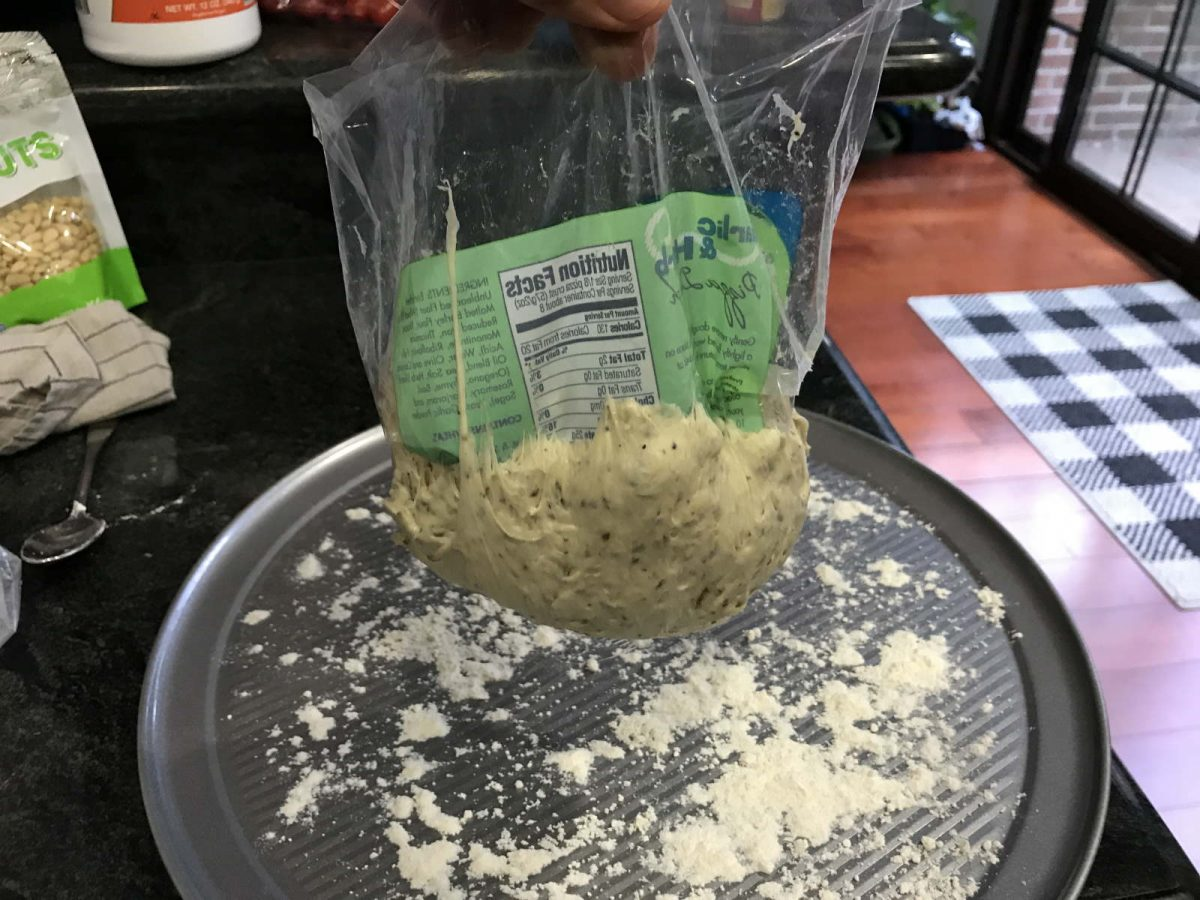 Getting Trader Joe's pizza dough out of the bag